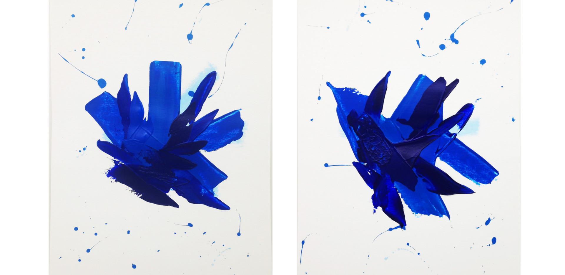 Karina Matheus -Blue horse I & II