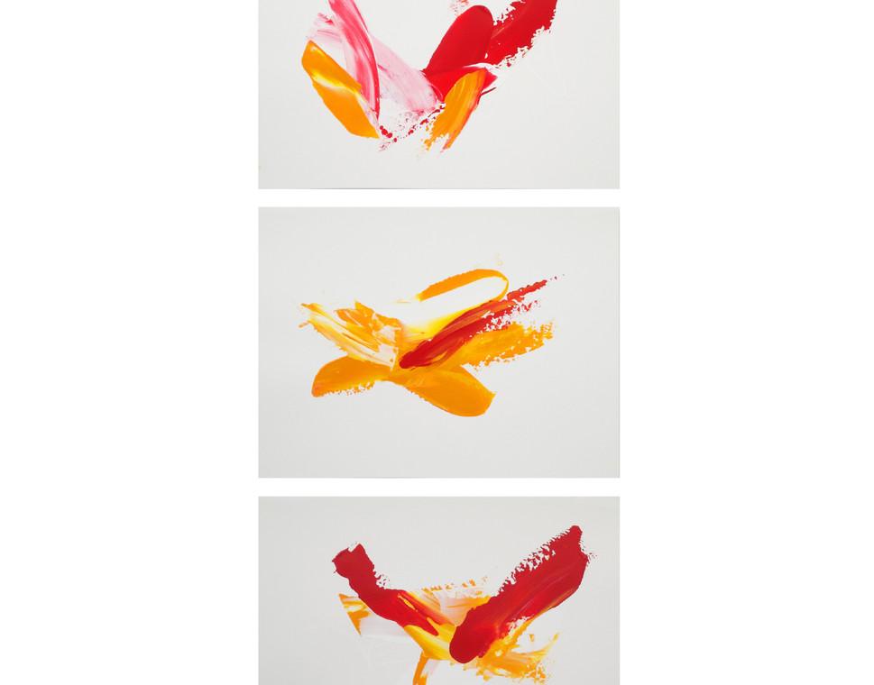 Karina Matheus - Sun flight I, II & III (triptych)