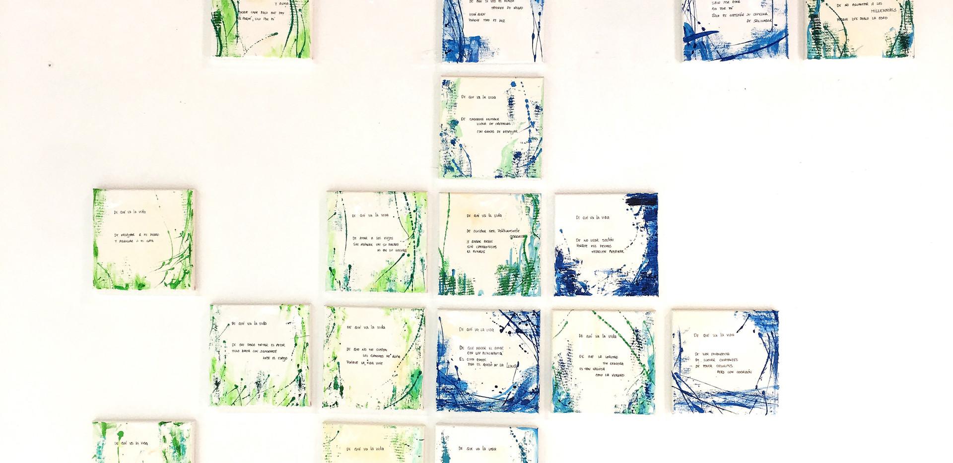 Karina Matheus - De qué va la vida - Poem Installation