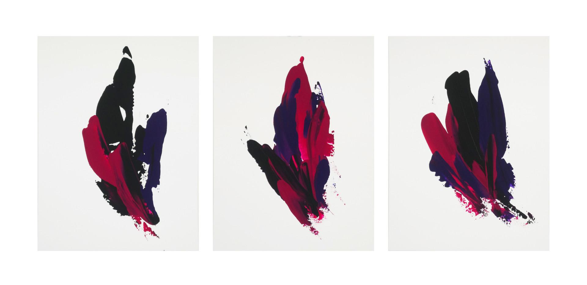 Karina Matheus - Mud steps I, II & III (triptych)