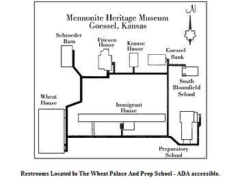 Map of Mennonite Heritage and Agricultural Museum Goessel