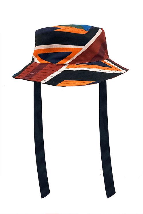 Reversible Coralist Bucket Hat in Geo Splice