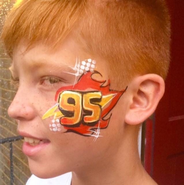 Lightning McQueen 95 Face Paint.jpg