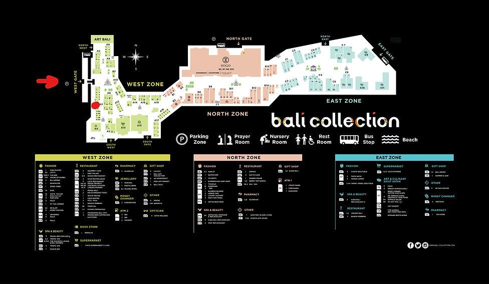 BALI COLLECTION MALL MAP 2019 SHAMPOO LO