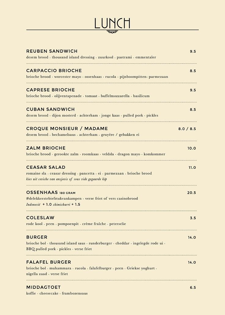 Lunchkaart Herberg De Bonte Os