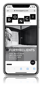 Mobiele website the rong agency
