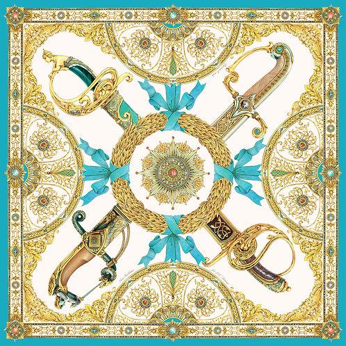 """Платок """"Эфесы"""" с ручной подшивкой"""