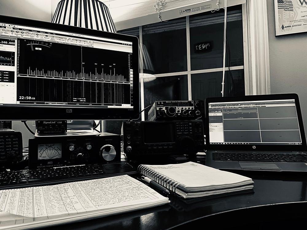 the W4LVH ham radio/DX shack