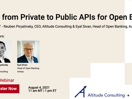 Open Banking Business Models & Moving from Private to Public APIs