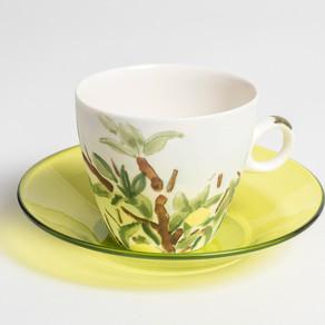 Lemon tree cup and saucer