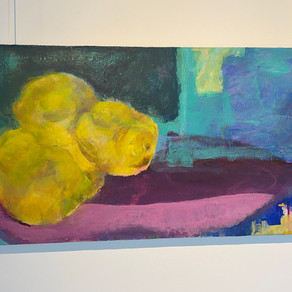 Sandy Wagner, morphing into quinces by the window