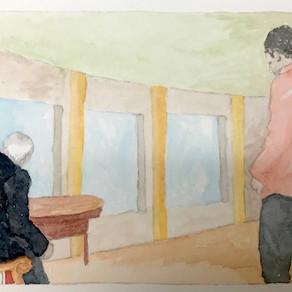 Drama 1, watercolour on paper