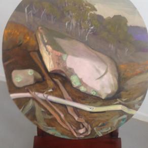 Sarah De Teliga, lichen stick and bark