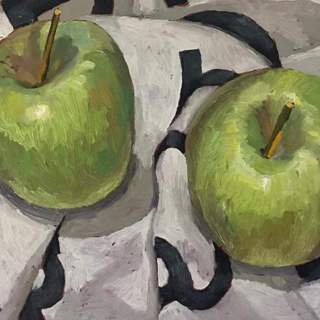 Robin Howard, two apples.jpg