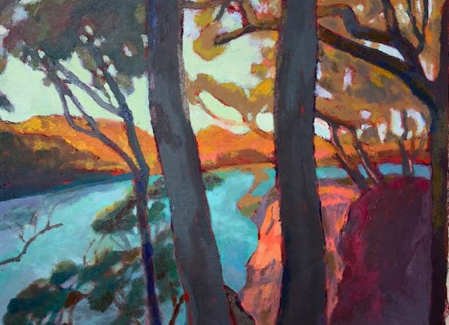 Robin Howard, evening at dark beach durras