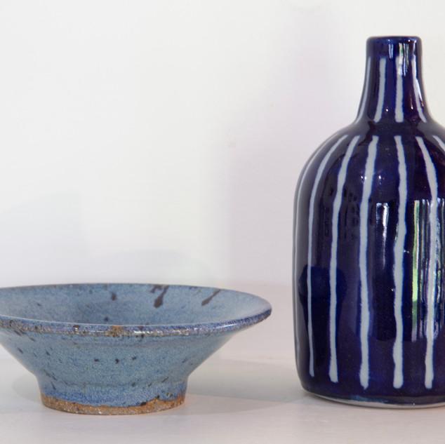 Al Howard, blue striped bottle