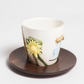 Garden cup and saucer
