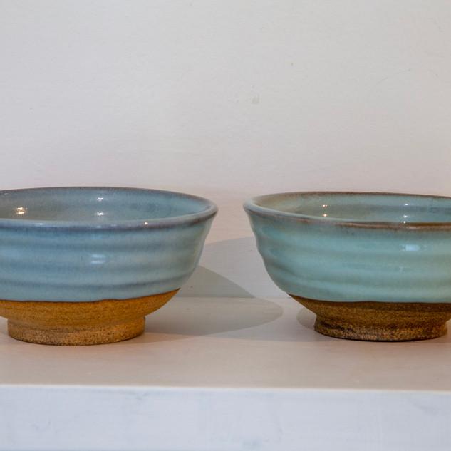 37.Kate McKay, two bowls, stoneware, chun glaze