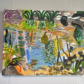 Lynne Flemons, sunshine on the water