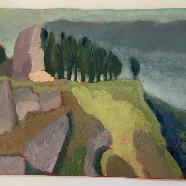 Robin Howard Aiello, Italy, oil on paper