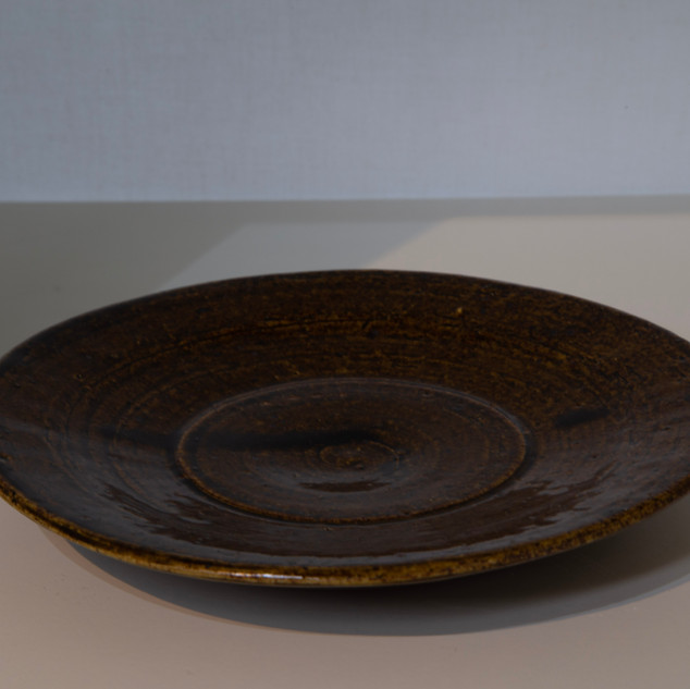 Al Howard, plate, stoneware, iron  glaze