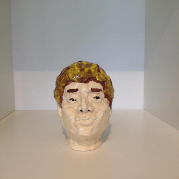 Bernard Hardy, ceramic head painted