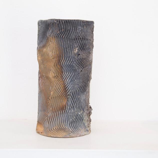 Al Howard, textured woodfired vase