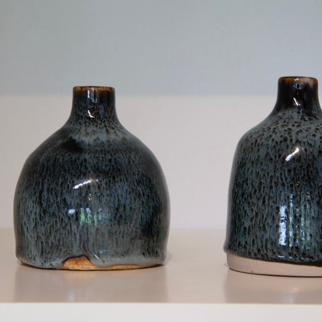 Al Howard, sake bottles, tenmoku and chun glazes