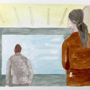 Drama 2, watercolour on paper