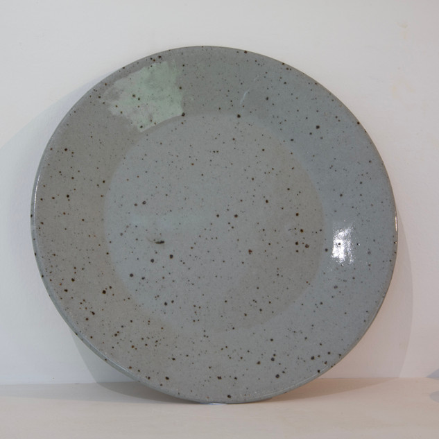 33.Kate McKay, plate, stoneware, celadon glaze