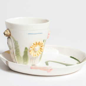 garden cup and plate