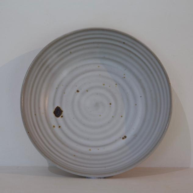 46.Kate McKay, bowl, dark stoneware, satin matt glaze