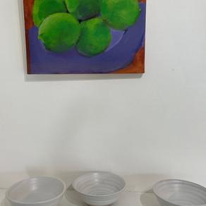 Sandy Wagner, Limes on a purple plate