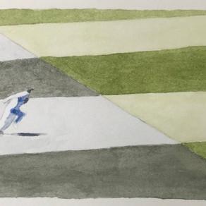 Run, watercolour on paper