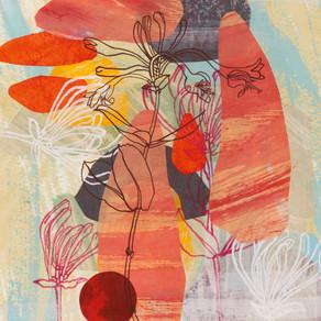 Julie Bradley, Walking with Jean Bellette cerise honey