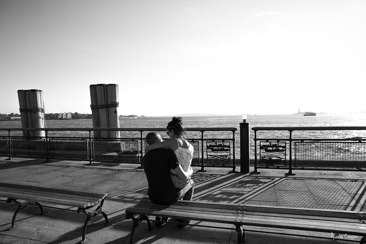 Lovers at Battery Park