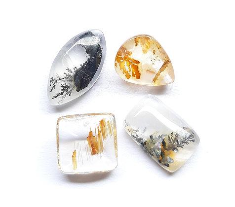 Dendrita e quartzo rutilado
