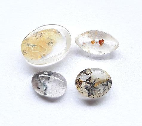 Dendrita e quartzo com goethita