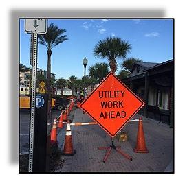 Util Work Ahead sign (3).JPG