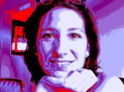 Pop Art Portrait einer jungen Frau