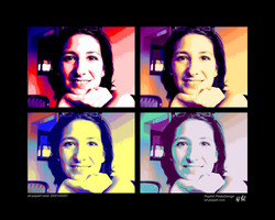 Pop Art Portrait 2x2 Bilder