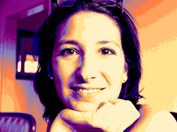 Pop Art Portrait einer jungen Frau.