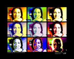 Pop Art Portrait 3x3 Bilder