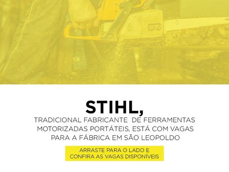 Unidade da Stihl, em São Leopoldo, tem oportunidades de trabalho abertas