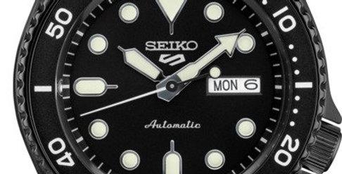 Seiko Analog Black  Stainless Watch SRD65