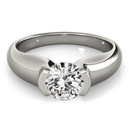 Ferdinand Jewelers sterling tension setting, round diamond contemporary engagement ring