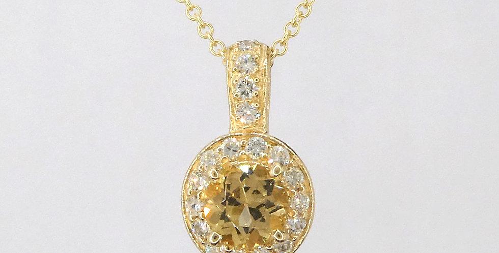 Topaz Diamond  Pendant