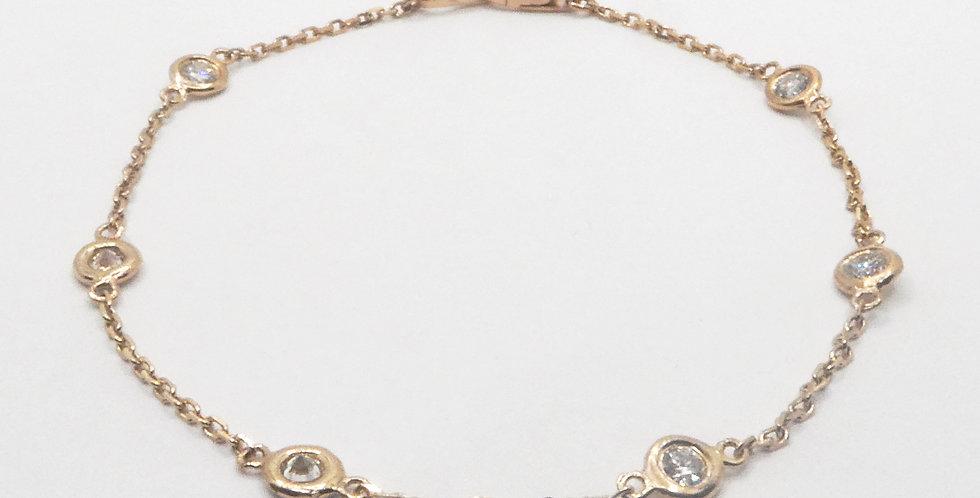Diamond by the Inch Rose Gold Bracelet