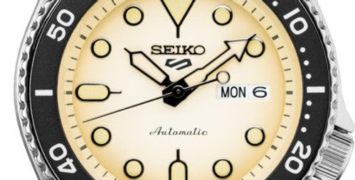 Seiko Analog Stainless Watch with Soft Yellow Face SRPD67
