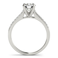 Ferdinand Jewers solitaire diamond, pave white gold setting engagement ring, side view